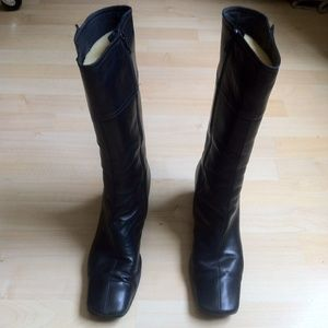 Used Coach Black Boots Size 9  Black